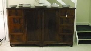 19th century mahogany sideboard - Edwardian dinner service